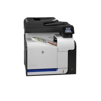 Мултифункционално лазерно устройство HP LaserJet Pro 500 color MFP M570dn, цветен, принтер/копир/скенер/факс, 600x600 dpi, 30/30 стр/мин, LAN 1000, RJ-11, USB, A4, 1г. image
