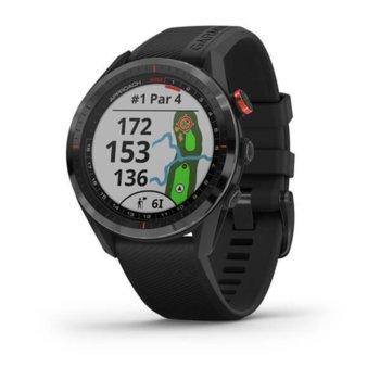 """Смарт часовник Garmin Approach® S62, предназначен за голф, 1.3"""" (3.3 cm) трансфлективен дисплей, 1GB Flash памет, Bluetooth, до 20 часа време за работа, черен image"""
