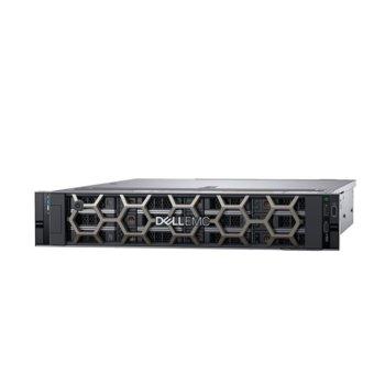 Сървър Dell PowerEdge R540 (PER540CEE03-14), десетядрен Cascade Lake Intel Xeon Silver 4210 2.2/3.2 GHz, 16GB DDR4 ECC RDIMM, 600GB HDD, 1x USB 3.0, No OS image