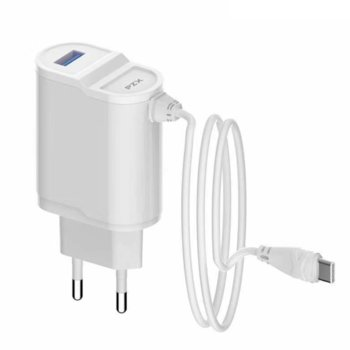 Зарядно устройство PZX C892E Lightning, от контакт към USB A(ж)/1x Lightning(м), 5V, 2.1A, бяло image