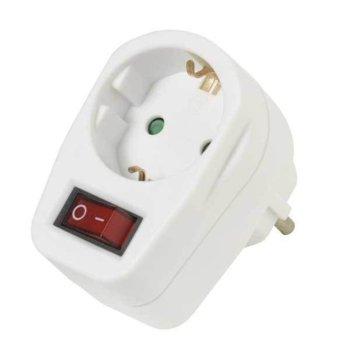 Адаптер Vivanco 22396, защита от деца, с ключ, бял image