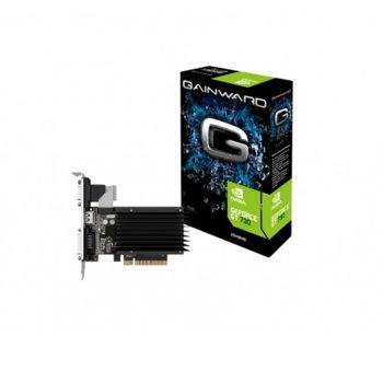 Видео карта Nvidia GeForce GT 730, 2GB, Gainward GeForce GT 730 SilentFX, PCI-E 2.0, DDR3, 64 bit, HDMI, DVI, D-Sub image