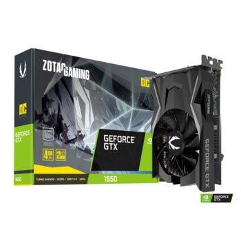 Видео карта Nvidia GeForce GTX 1650 OC, 4GB, ZOTAC Super Compact (ZT-T16500F-10L), PCI-E 3.0, GDDR5, 128bit, DisplayPort, HDMI, DVI-D image
