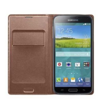 Samsung Flip Wallet for Galaxy S5 K Pacific brown product