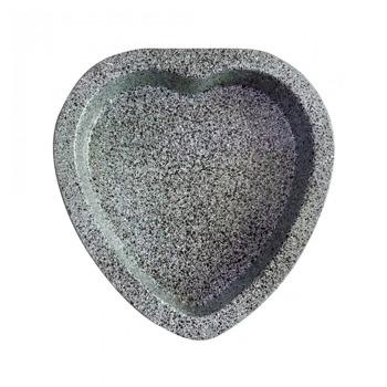 Форма за кекс сърце Klausberg KB 7417, стомана, гранитно покритие, 23x22х3.5 см, сив image