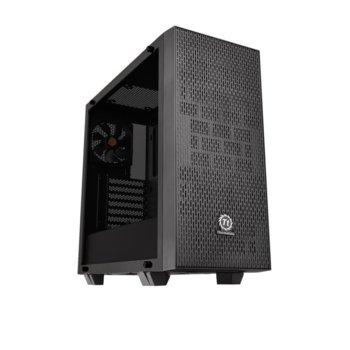 Кутия Thermaltake Core G21 TG, ATX/mATX/mITX, 2xUSB3.0, прозорец, черна, без захранване image