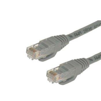 Пач кабел UTP, DF, 0.5m, Cat 5, сив image