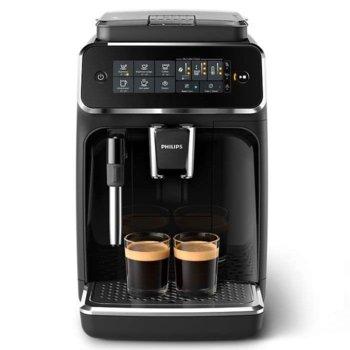 Кафемашина Philips EP3221/40, 230W, 15 bar, дисплей със сензорен екран, приставка Classic за разпенване, черна image