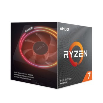 Процесор AMD Ryzen 7 3800X, осемядрен (3.9/4.5 GHz, 32MB, AM4) BOX, с Wraith Prism охлаждане image