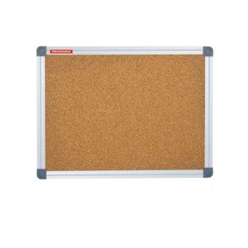 Коркова дъска Memoboards, с алуминиева рамка, размер 1200x1800 mm, кафява image