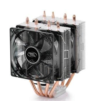Охлаждане за процесор DeepCool FROSTWIN LED, съвместимост със Intel LGA2011-v3/LGA2011/LGA1366/LGA115X & AMD AM4/AM3+/AM3/AM2+/AM2/FM2+/FM2/FM1/APU A12/A10/A8/A6/A4 image
