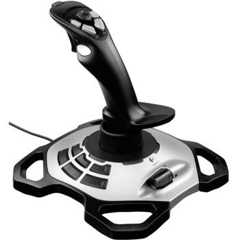 Джойстик Logitech Extreme 3D Pro, USB, черен/сребрист, за PC image