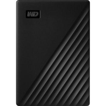 Твърд диск 5TB, Western Digital My Passport, черен, външен, USB 3.2 Gen 1 image