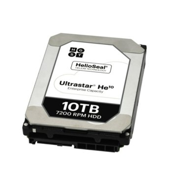 Твърд диск 10TB WD Ultrastar DC HC510 (He10)(512e without Power Disable), SATA 6Gb/s, 7200rpm, 256MB кеш, 3.5 (8.89cm) image