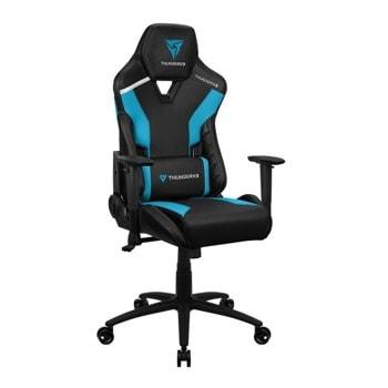 Геймърски стол ThunderX3 TC3 Azure Blue, до 150кг, газов амортисьор, люлеещ механизъм, син image