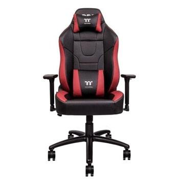 Геймърски стол TteSports U Comfort, изкуствена кожа, червено-черен image