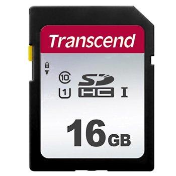 Карта памет 16GB SDHC Transcend 300S, Class 10 UHS-I U1, скорост на четене 95MB/s, скорост на запис 45MB/s image