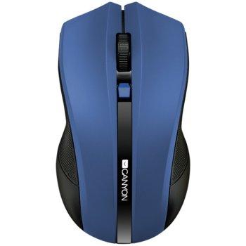 Мишка Canyon CNE-CMSW05BL, оптична (1600 dpi), безжична, USB, синя image