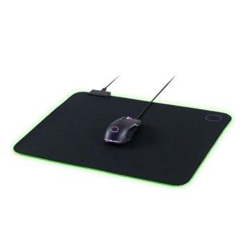 Подложка за мишка Cooler Master Masteraccessory MP750, гейминг, RGB, черна, 470 x 350 x 3 mm image