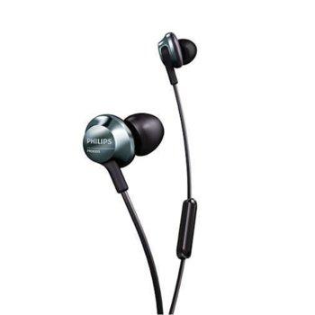 Слушалки Philips PRO6305BK, микрофон, черни image