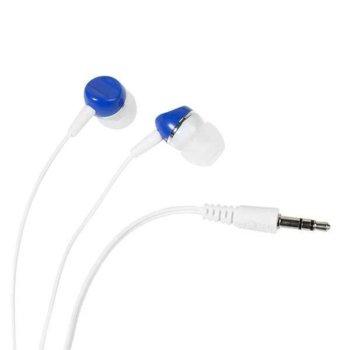 """Слушалки Vivanco Color Buds 34887, 1,2 м. кабел, тип """"тапи"""", сини image"""