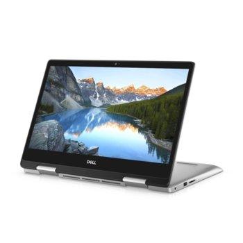 "Лаптоп Dell Inspiron 5491 2in1 (5397184439609)(сребрист), четириядрен Comet Lake Intel Core i5-10210U 1.6/4.2 GHz, 14.0"" (35.56 cm) Full HD Touchscreen Glare Display, (HDMI), 8GB DDR4, 512GB SSD, 1x USB 3.1 Type C, Windows 10 Pro image"