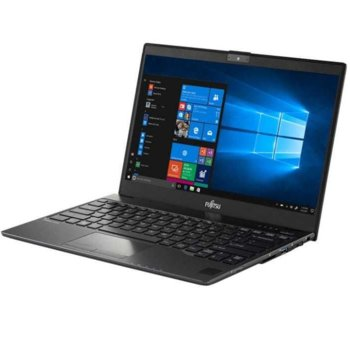 "Лаптоп Fujitsu Lifebook U938 Black (U9380M171BRO), четириядрен Kaby Lake R Intel Core i7-8650U 1.9/4.2 GHz, 13.3"" (33.78 cm) Full HD (1920 х 1080p) IPS Anti-Glare Display (HDMI), 12GB DDR4, 512GB SSD M.2 SATA, 1x USB 3.0 Type-C, Windows 10, 0.9 kg image"