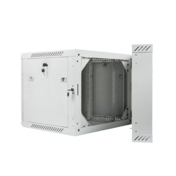 Комуникационен шкаф Lanberg WF02-6609-10S, 9U, 600 x 600 x 507.3 mm, сив image