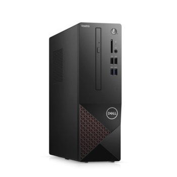 Настолен компютър Dell Vostro 3681 SFF (N510VD3681EMEA01_2101_UBU_KBM), осемядрен Comet Lake Intel Core i7-10700 2.9/4.8 GHz, 8GB DDR4, 512GB SSD, 4x USB 3.2, клавиатура и мишка, Linux image