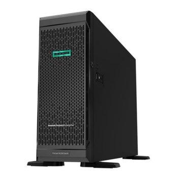 Сървър HPE ProLiant ML350 Gen10 (877621-421), осемядрен Skylake Intel Xeon Silver 4110 2.1/3.0GHz, 16GB DDR4 RDIMM, без твърд диск, 4x 1GbE, 1x Display Port, 1x VGA, microSD слот, 4x USB 3.0, No OS, 1x 800W захранване image