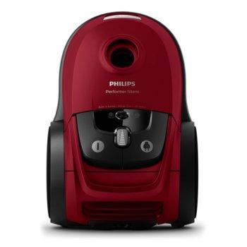 Прахосмукачка Philips Performer Silent FC8781/09 , с тобра, 650 W,, 4 л. капацитет на контейнера, енергиен клас А+, червена image
