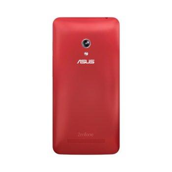 Калъф за Asus ZenFone 5, страничен протектор с гръб, поликарбонатов, Asus Zen Case A500KL, червен image