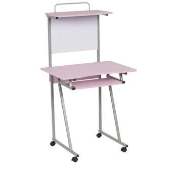 Детско бюро Carmen 30020, ПДЧ, меламиново покритие, изтеглящ плот за клавиатура, дъска за писане, светло розовo image