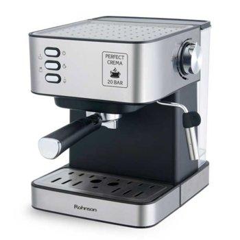Кафемашина Rohnson R-982, 850 W, 20 бара помпа, 1.6 л. резервоар за вода, черен image
