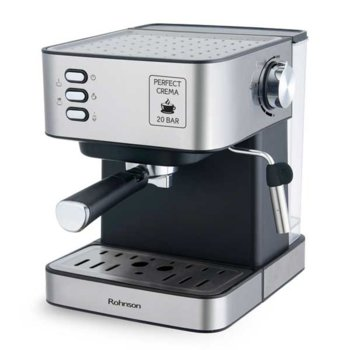 Кафемашина Rohnson R 982, 850 W, 20 бара помпа, 1.6 л. резервоар за вода, черен image