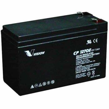 Акумулаторна батерия Vision CP1272Y, 12V, 7Ah, AGM image