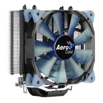Охлаждане за процесор AeroCool Verkho 4 Dark, съвместимост със Intel 2066, 2011-3, 2011-0, 775, 1150, 1151, 1152, 1155, 1156 & AMD AM4, AM3+, AM3, AM2+, AM2, FM2+, FM2, FM1 image