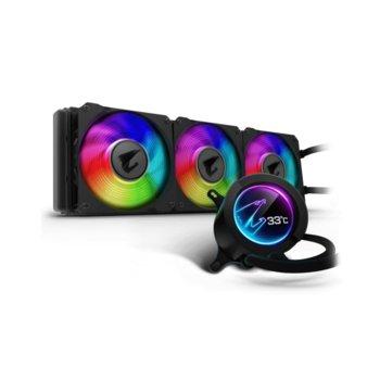 Водно охлаждане за процесор Gigabyte AORUS LIQUID COOLER 369, Intel LGA-2066, 2011-3, 1366,115x, AMD Socket TR4, AM4 image