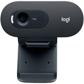 Уеб камера Logitech C505 (960-001364), микрофон, HD(30FPS), USB, черна image