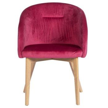 Трапезен стол Carmen 522, дамаска, метал, бордо image