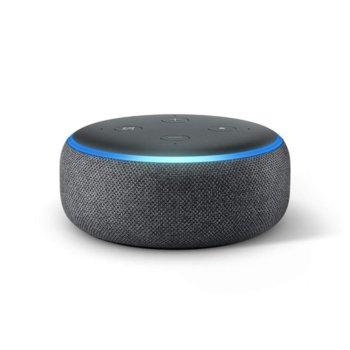 Смарт колонка Amazon Echo Dot 3 Charcoal, микрофон, Wi-Fi, Bluetooth, гласов асистент, черна image