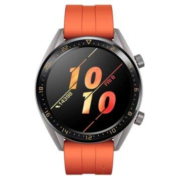 """Смарт часовник Huawei Watch GT FTN-B19R, 1.39"""" (3.53cm) AMOLED дисплей, Bluetooth, водоустойчив 5 ATM, оранжев image"""