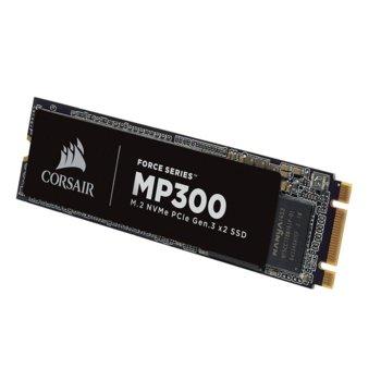 Памет SSD 240GB Corsair Force Series MP300, PCIe NVMe 3.0 x2, M.2 (2280), скорост на четене 1580 MB/s, скорост на запис 920 MB/s image