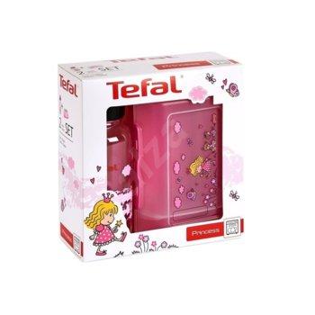 Кутия за съхранение Tefal Kids Set Tritan Princess, със бутилка 0.4L, с капак, пластмаса, принцеса image