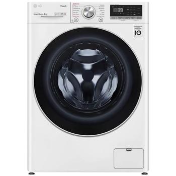 Перална машина LG F4WV709S1E, A+++, 9 кг. капацитет, 1400 оборота в мин, 14 програми на пране, свободностояща, 60сm ширина, TurboWash 360, AI DD, LG ThinQ, бяла image