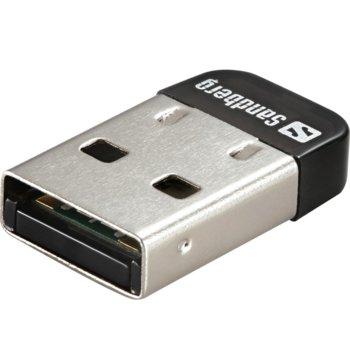 Адаптер Sandberg Nano Dongle, Bluetooth 4.0, до 3Mbps, обхват до 25м, черен image