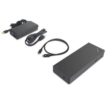 Докинг станция Lenovo ThinkPad Thunderbolt3 Dock Gen 2 (40AN0135EU), 1x USB-C, 5x USB 3.1, 2x HDMI, 2x DisplayPort, 1x ThunderBolt 3 Gen 2, 1x RJ-45, 1x audio, черна image