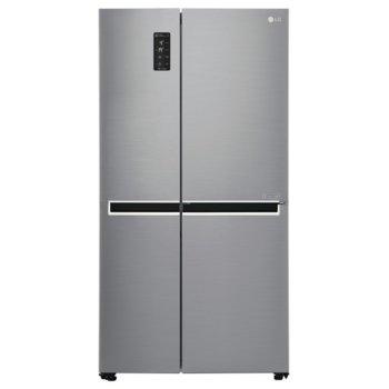 Хладилник с фризер LG GSB760PZXV, клас А+, 626 л. общ обем, свободностоящ, 438 kWh/годишно, LED дисплей, Total No Frost, инокс image