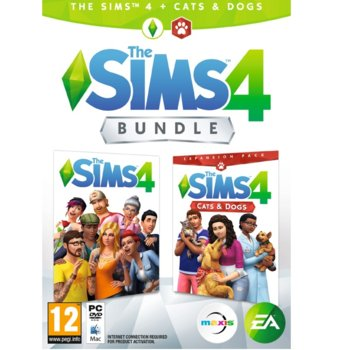 Игра The Sims 4 + Cats and Dogs Expansion Pack Bundle, за PC image