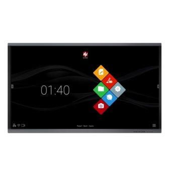 "Интерактивен дисплей Avtek TouchScreen 55 Pro4K, 55"" (139.7 cm) 4K UHD 16:9 мултитъч дисплей, 1200:1, 350 cd/m2, 2x HDMI, 1x VGA, 2x USB 2.0 image"